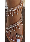 Beads and Diamonds Strappy Sandal