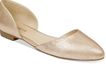 Gold pointed toe Flat
