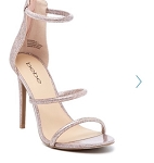 Iridescent Bebe Stiletto Strapped Sandal-NWT