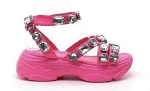 Pink Jeweled Sneaker Sandal