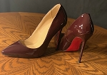 Burgundy- Red Bottomish Stiletto