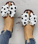 Polka Dot Bow slide in