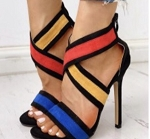 High heel Colorblock