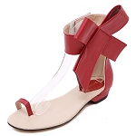 Ankle Bow Sandal -Red