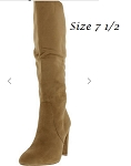 Knee High Chunky Heel Boot-Camel