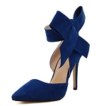 Large Ankle Bow Heel -Blue