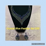 Crystal Blue Feathers Set