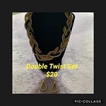 Double Twist Necklace Set