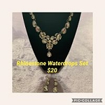 Rhinestone Waterdrops Set