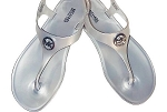 Michael Kohrs Silver Thong Sandals-NWT