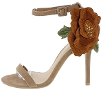 Open Toe Ankle Strap Flower