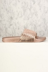 Rhinestone Slide On Sandal- Rose Gold