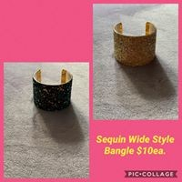 Sequin WIde Bangle